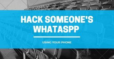 hacking someones whatsapp account