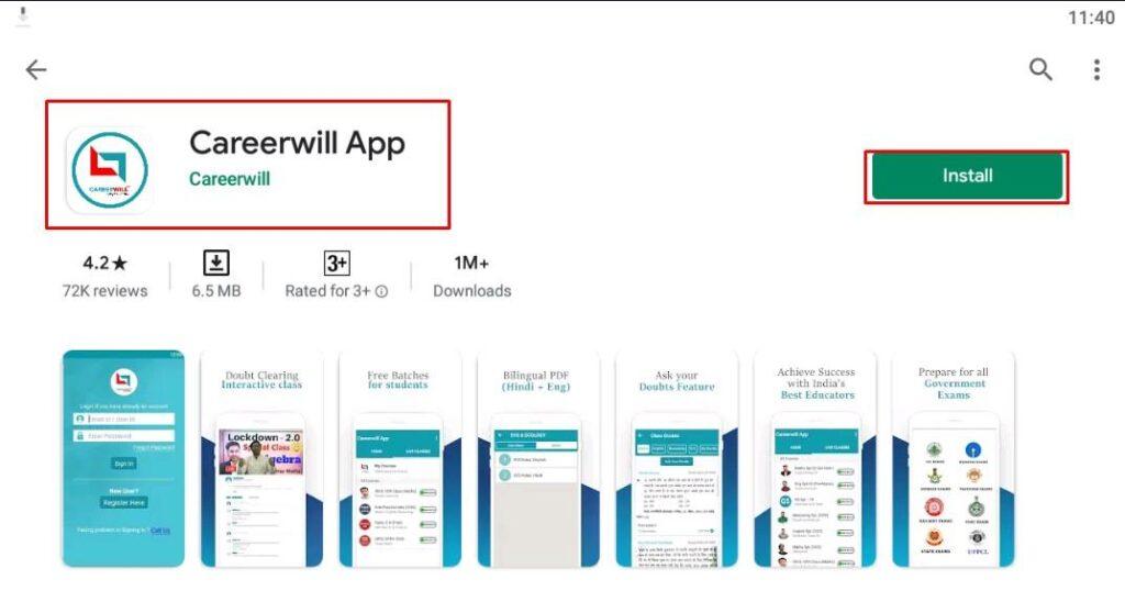 CareerWill App Download Using Bluestacks